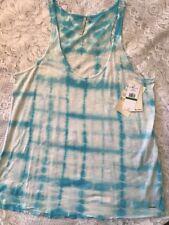 Calvin Klein Jeans Womens Sz L Tie Dye Tank Top Blue White - NWT - MSRP $39.50
