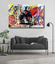 Batman vs. Superman Graffiti Canvas Print Street art Poster Mural