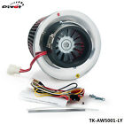 Racing Electric Turbo Supercharger Kit Air Filter Intake for all car Iron Fan