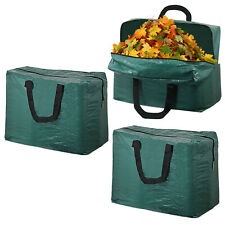Large Garden Waste Bag Leaf Collection Grass Cuttings Zipped Waterproof 75L x 3