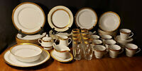 Noritake Majestic Gold 4290 62 Piece China Set Service for 8 Gold Encrusted Trim