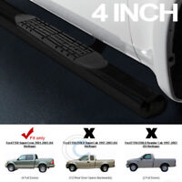 """4""""OVAL SIDE STEP NERF BARS running board 01-03 FORD F150 SUPERCREW/CREW CAB BLK"""