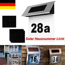 Solar Hausnummer Wasserdicht Beleuchtet Edelstahl Hausnummernlampe DE