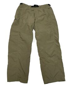 Patagonia Mens Medium Tan Outdoor Belted Elastic Cargo Pants Mint Condition