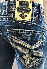 Nuevo Para Hombre ROCK REVIVAL Cael Recta Denim Jeans Tallas 28 29 30 31 32 34 36 38 40
