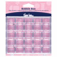 Hemline Bobbin Box for sewing machine Bobbins : Plastic: 25 Spool