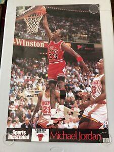 "Vintage 1990 Michael Jordan Sports Illustrated Poster 35"" x 23"""