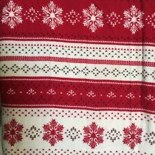 Holiday Cabin RED White Snowflake Striped FLANNEL @Home TARGET 81 x 115 RUSTIC