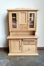 Dollhouse Miniature Kitchen Cabinet w/ Flour Bin 1:12 Scale Furniture Light Oak