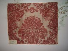 "Lee Jofa  ""Southwold Damask"" fabric remnant for crafts color red"