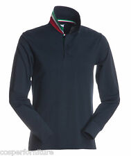 Polo Manica lunga Payper Long Nation in cotone Uomo 3xl Blu Navy