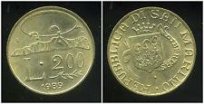 SAN MARIN   ITALY  200 lire 1989