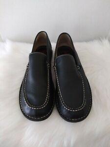 Margaritaville Fins Mens Loafers Slip On Shoes Driving Black Leather Size 11