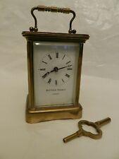 Elegant MATTHEW NORMAN 1754 8 Day Brass Carriage Clock - Working (With Key)