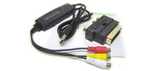 Scart RCA A/V S-Video To USB DVR Adapter - Plug-N-Play No Driver Needed For PCs