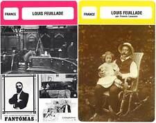 FICHE CINEMA x2 : LOUIS FEUILLADE -  France (Biographie/Filmographie)