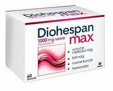 DIOHESPAN MAX Diosminum 1000 mg Legs Heaviness Pain Fatigue Hemorrhoids 60 Tab.