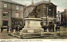 Bury St Edmunds. Suffolk Soldiers' Memorial, Cornhill by H.A. Cornish.