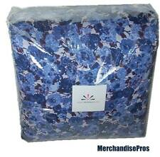 4 PC  ISAAC MIZRAHI LIVE FLORAL COMFORTER SET BLUE KING 108x98  NEW!