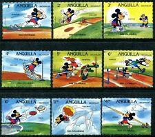 Anguilla 559-567, 1984 Walt Disney characters Mickey Olympics Animation x7831