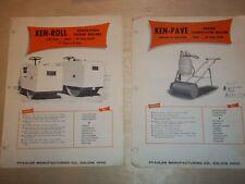 Vtg Pfaler MFG Catalog Inserts~Rollers~Ken-Roll/Pave