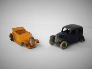DINKY TOYS MECCANO 35 SERIES SALOON CAR 35a 1936-40 AUSTIN 7 TOURER 35d 1946-48