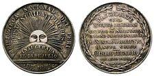 PERU. MEDALLA DE PLATA RE-INAUGURACION BIBLIOTECA NACIONAL AÑO DE 1884. BELLA !