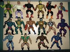 Lot of 17 Vintage Masters of the Universe Action Figures He-Man used for parts