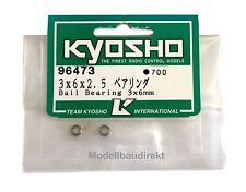 2 Stück Kugellager 3 x 6 x 2,5 mm Kyosho 96473 NEU & OVP