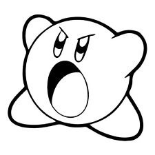 Decal Vinyl Truck Car Sticker - Video Game Kirby v2