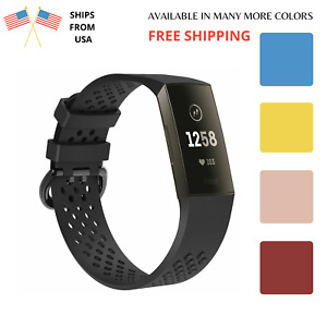 For Fitbit CHARGE 3 Replacement SPORT Silicone Rubber Band Strap Wristband