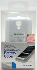 NEW GENUINE Samsung Galaxy S4 White Case Wireless Charging Battery Cover Qi Pads