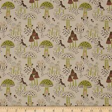 Enchanted Forest Fairy Houses 100% Cotton Fabric by Lewis & Irene  FQ
