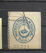 773-SELLO FISCAL COLEGIO NOTARIAL VALENCIA 1 PESETA 1900.MONTEPIO .SPAIN REVENUE