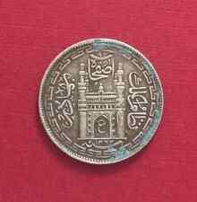 INDIA HYDERABAD SILVER 4 ANNAS 1943 ( KM# Y61 ) - XF -