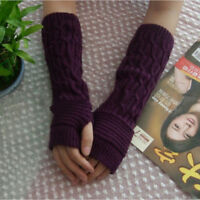 Knitted Long Arm Gloves Warmer Wool Fingerless Ankle Glove Half Sleeves ST
