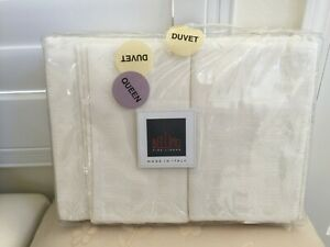 BELLINO ITALY 3pcs Set One Queen Duvet Cover And 2 Standard Shams Biege COTTON