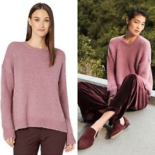 NWT Eileen Fisher XL Airspun Mohair Sweater Pullover Drop Shoulder Oversized