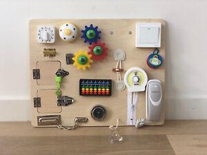 Montessori Busy Board Educational Toys Sensory Fine Motor Skills Wooden AU Stock