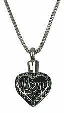 Cremation Jewellery - Ashes Urn Pendant Keepsake - Mother Heart