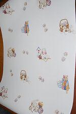 Children's Nursery Patchwork Cats, Bunnies, Blocks, Toys Wallpaper Roll W1105