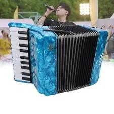 Ziehharmonika 22 Key 8 Bass Piano Akkordeon mit Rimen Instrument Musik Anfänger