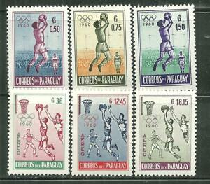 PARAGUAY 557-59, C262-64 MNH OLYMPIC GAMES 1960