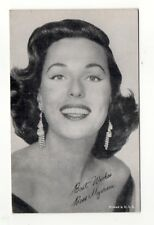 Bess Myerson 1950's 1960's Actress Salutations Exhibit Arcade Card