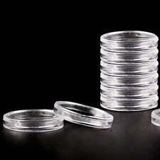 10 x Plastic Coin Capsules 27mm for 1/4oz Silver Bullion Rounds (Generic)
