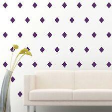 "4"" Set of 96 Purple Diamond Shape Wall Decal Vinyl Sticker Wall Pattern Decor"