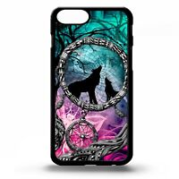 Wolf howling at the full moon dream catcher wolves cub pattern phone case cover