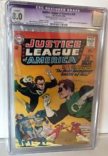 JUSTICE LEAGUE OF AMERICA #30 - CGC 8.0  - JSA CROSSOVER - OW/W  PAGES