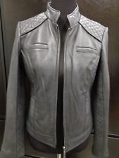 Tribal Quilted Black Leather Jacket Size 6 NEW WITH TAG $290