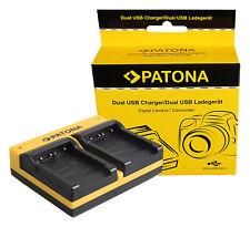 Caricabatteria USB dual per Patona Sony Cyber-shot DSC-T200,DSC-T3,DSC-T30